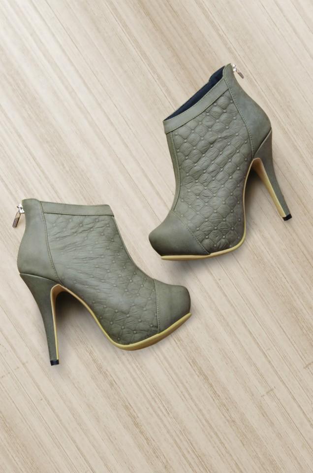 Botines Coco Verde (Cuero)