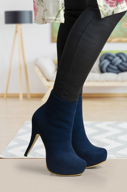 Botines Camila Azul